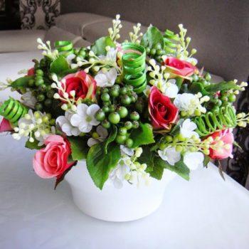 1232 - Композиции из искусственных цветов, изготовленные собственными руками
