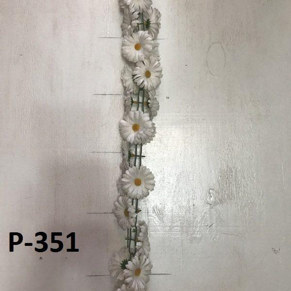 Искусственная гирлянда P-351, гирлянда из белых ромашек