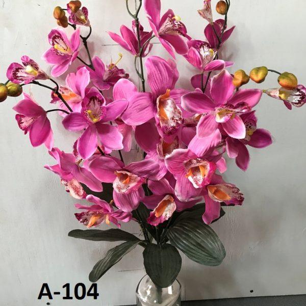 Искусственный букет A-104, веточка розовой орхидеи