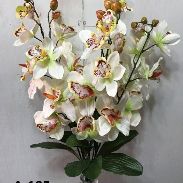 Искусственный букет A-105, ветка белых орхидей