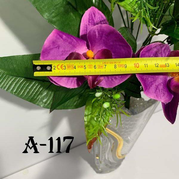 Искусственный букет A-117, сиреневая орхидея-бабочка