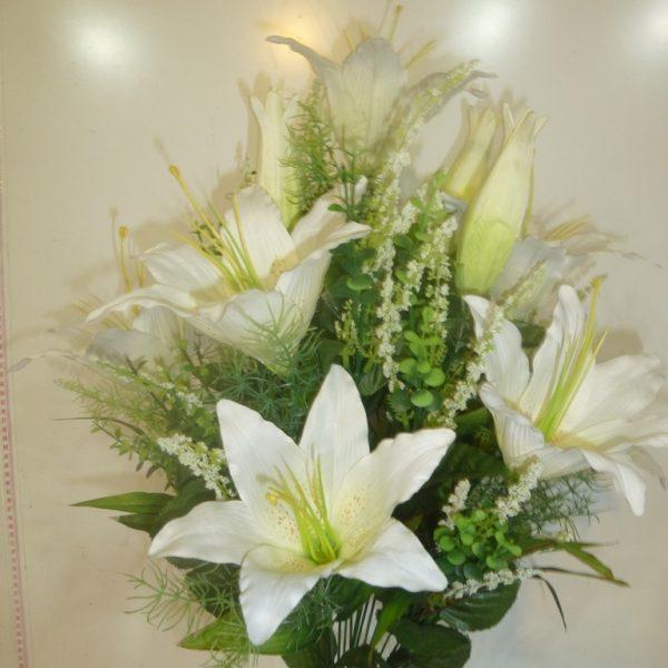 Искусственный букет A-23, белая лилия