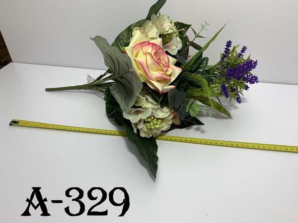 Искусственный букет A-329, Розы с лавандой и гортензиями