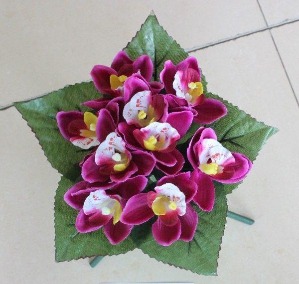 Искусственный букет A-42, мелкая орхидея
