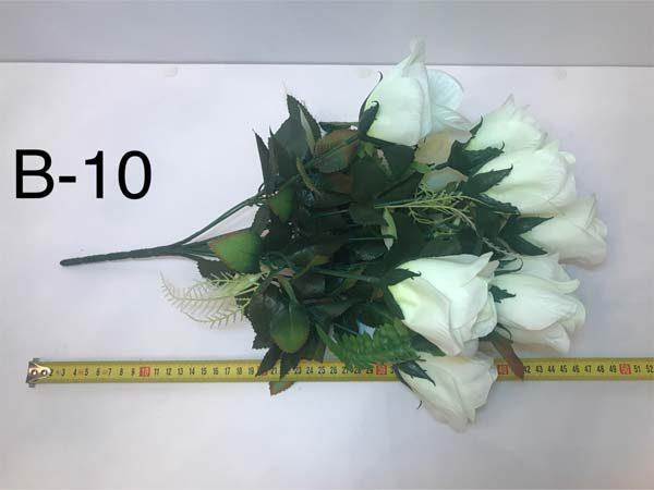 Искусственный букет B-10, желтые бутоны роз