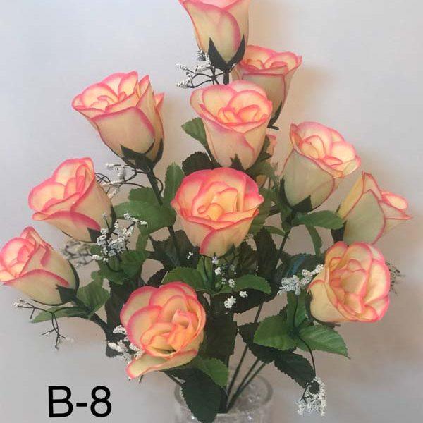Искусственный букет B-8, розы в бутонах