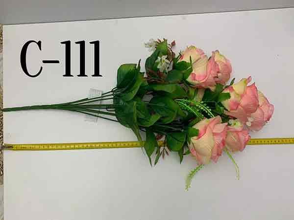 Искусственный букет C-111, роза в бутоне (бокал)