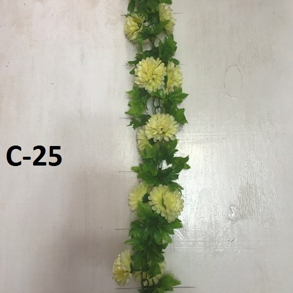 Искусственная гирлянда C-25, гирлянда из хризантем
