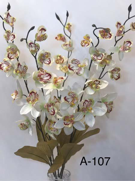 Искусственный букет A-107, розовая орхидея, 5 веток.