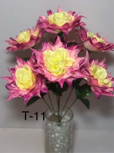 Искусственный букет T-11, остролистые розы