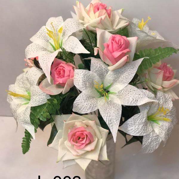 Искусственный букет L-003, розы и лилии