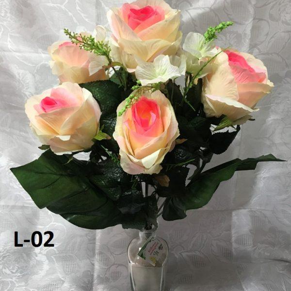 Искусственный букет L-02, бутоны роз в форме бокала