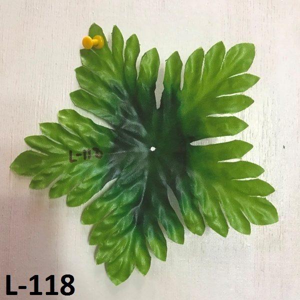 Искусственные листья L-118, листья - пятилистники