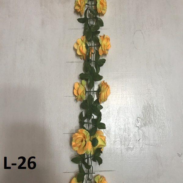 Искусственная гирлянда L-26, гирлянда из розочек