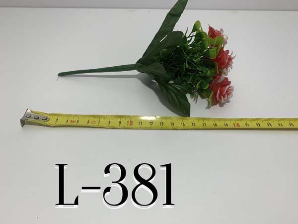 Искусственный букет L-381, Пластмассовые розочки