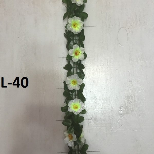 Искусственная гирлянда L-40, гирлянда из примул