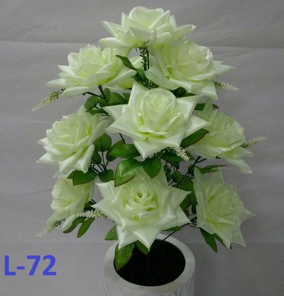 Искусственный букет L-72, белые розы