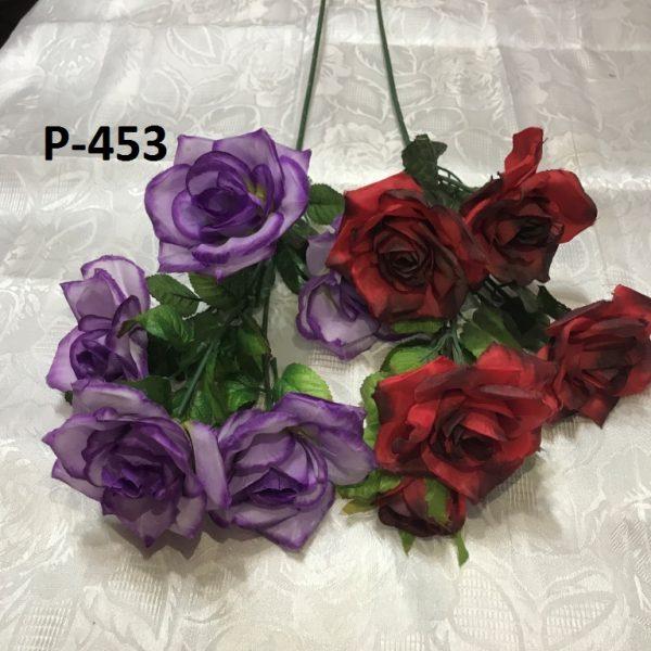 Искусственная ветка P-453, разноцветные ветки роз