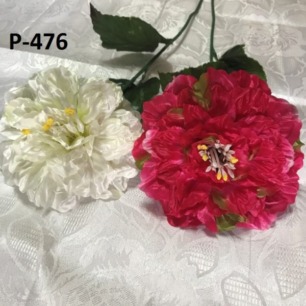 Искусственная ветка P-476, ветка махровой хризантемы