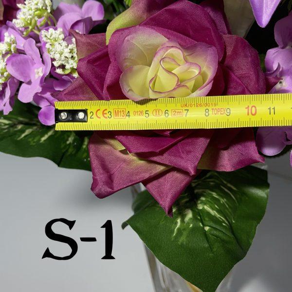 Искусственный букет S-1, Розы и лилии
