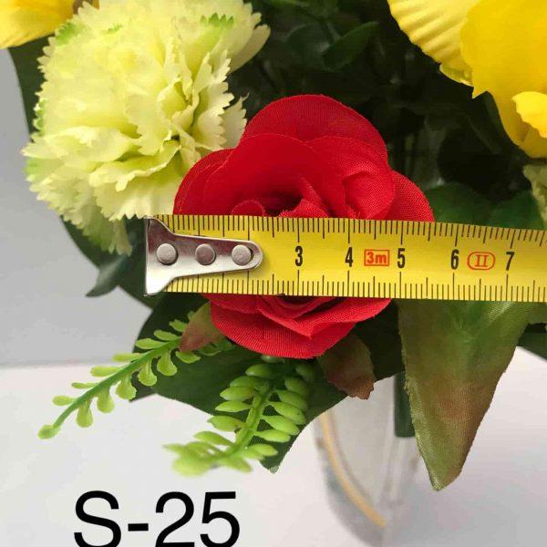 Искусственный букет S-25, Розы, гвоздики, орхидеи и птицемлечник