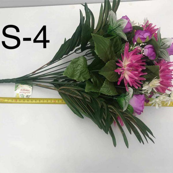 Искусственный букет S-4, Георгины, астры и розы