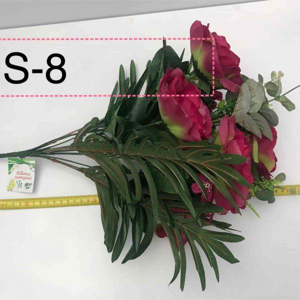 Искусственный букет S-8, Розы и герберы