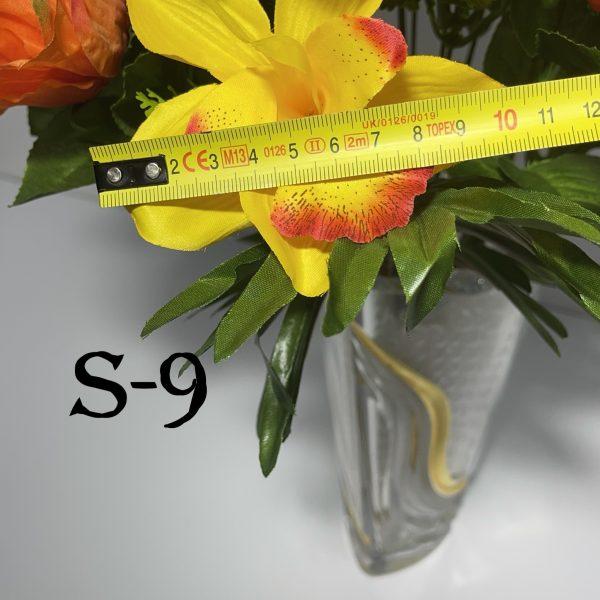 Искусственный букет S-9, Каттлеи, розы и гвоздики