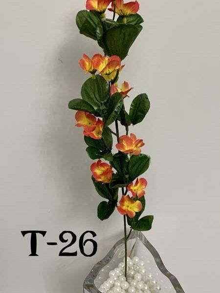 Искусственная ветка T-26, ярко-розовая анемона