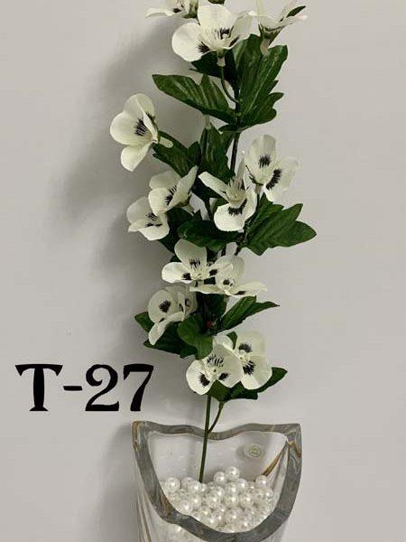 Искусственная ветка T-27, анютины глазки