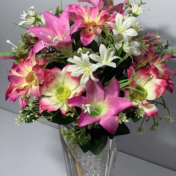 Искусственный букет S-81, Садовые цветы