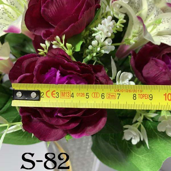 Искусственный букет S-82, Камелии и лилии